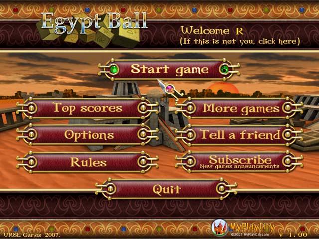 لعبة Egypt Ball