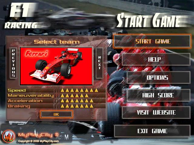 لعبة السباق Racing